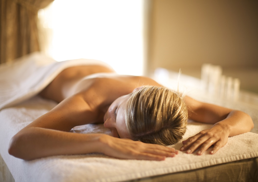 Woman Relaxing on Massage Table - Mobile Massage Service - Durban